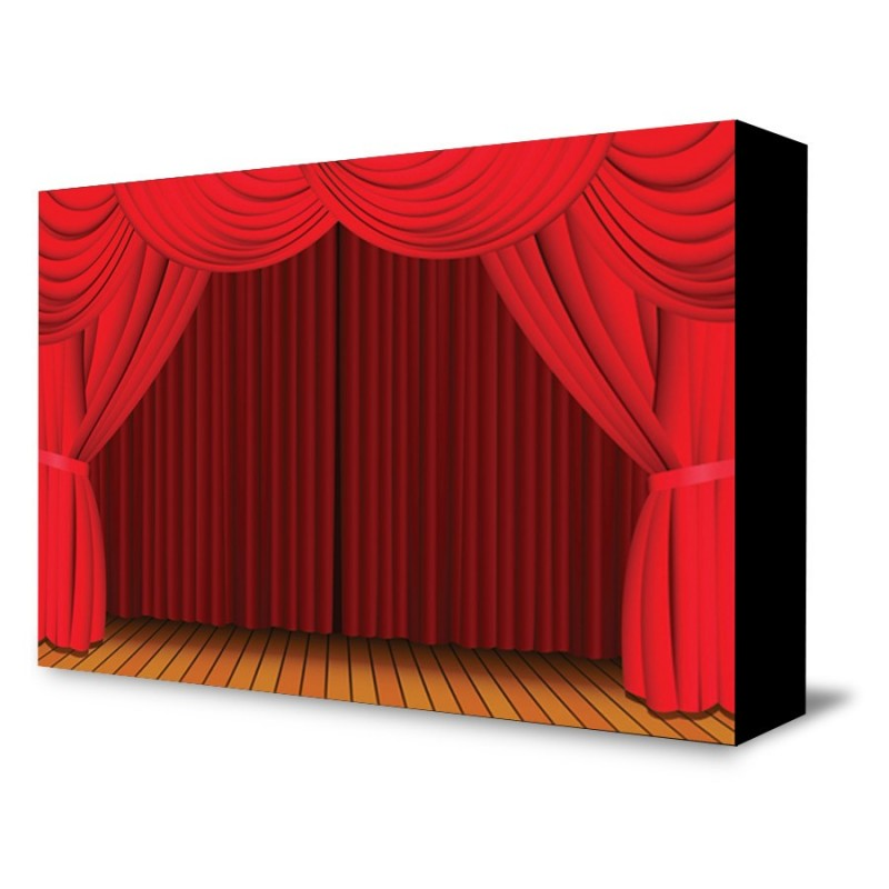 Red Curtain Portable Backdrop