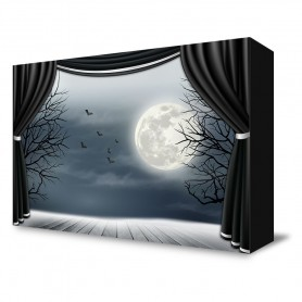 """""""Halloween Stage"""" Portable Backdrop"""