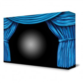 Blue ProsceniumTheater Backdrop