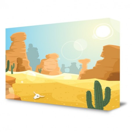Cartoon Desert Portable Backdrop