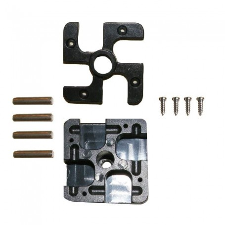 Frame Connector Replacement Set (Plastic Cover, Connector Box, 4 Pins, 4 screws)