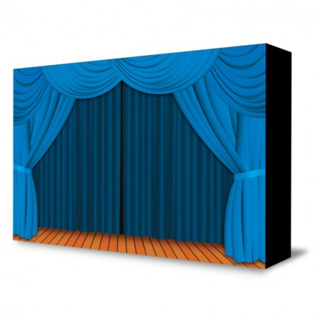 """Blue Theater Curtain"" Portable Backdrop"