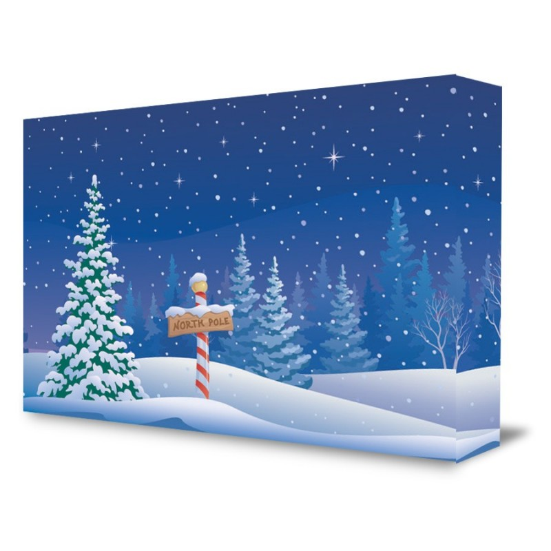 North Pole Christmas Backdrop For Shows Concerts Santa