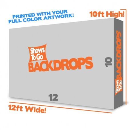 12x10 Custom Printed Backdrop System