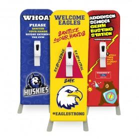 School Logo Hand Sanitizer Dispenser Stands