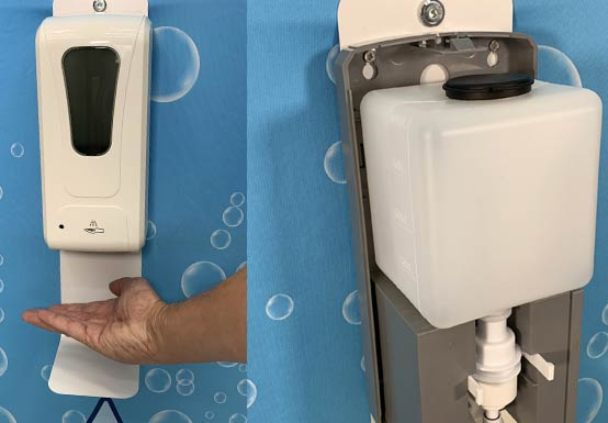 Hands-free and mess-free automatic sanitizer dispenser