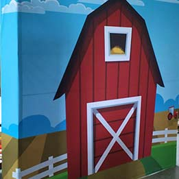 Barn Backdrop For Corporate Event