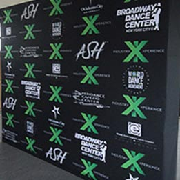 10ft wide Fabric Step and Repeat Backdrop