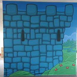 Castle Wall Stage Set Piece