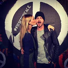 Actor Aaron Paul In Front Of One Of Our Custom Backdrops At The Super Bowl