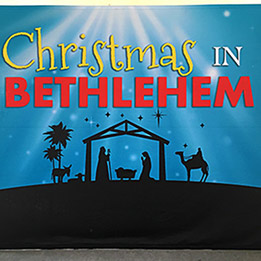 Church Christmas Event Promotional Backdrop