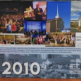 Church History Anniversary Lobby Display