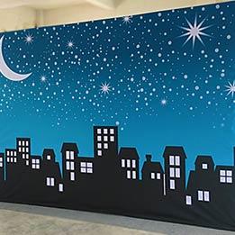City Skyline Custom Portable Stage Background