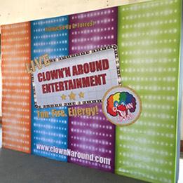 Clown N Around Entertainment Backdrop Set