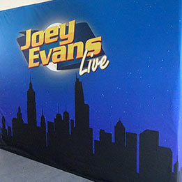 Comedian and Magician Corporate Show Backdrop