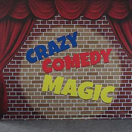 """Crazy Comedy Magic"" Show Backdrop"