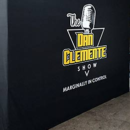 """The Dan Clemente Show"" 10ft x 8ft Portable Stage Backdrop"