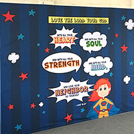 Portable Church - Youth Ministry Backdrop