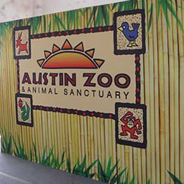 Austin Zoo Program Traveling Backdrop