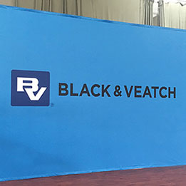 Backdrop For Conference Stage - 17ft wide x 10ft high