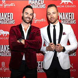 The Naked Magicians - Las Vegas Press Backdrop
