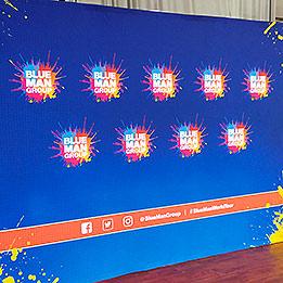 Blue Man Group World Tour Press Backdrop
