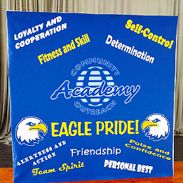 School PBIS Assembly Backdrop and Hall Display
