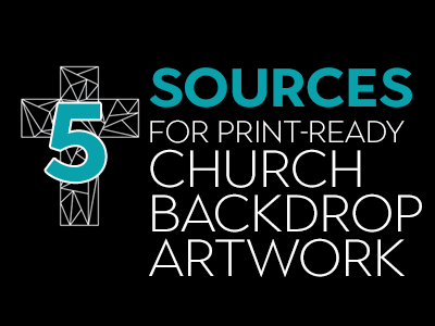 Best Church Artwork Sources For Church Service Backdrops & Lobby Signs